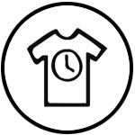 ratslab Icono dibujado a mano para el valor añadido de que nuestra ropa sea de calidad y duradera por sus materiales y acabados