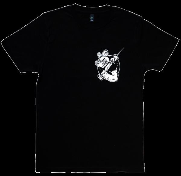 RATSLAB Camiseta-ecologica-punky-contra-experimentacion-animales-frontal