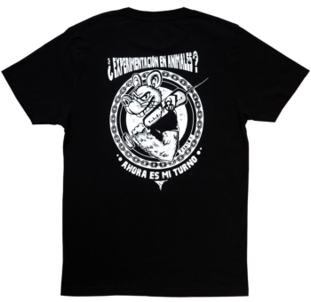 RATSLAB Camiseta-ecologica-punky-contra-experimentacion-animales-trasero