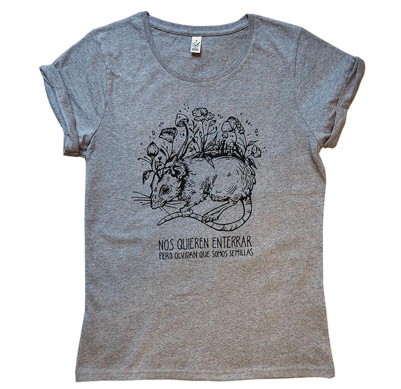 RATSLAB camiseta-algodon-organico-rata-semilla-nos-quieren-enterrar