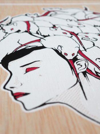 RATSLAB print-madera-serigrafiada-reina-rata-queen-japonesa-1